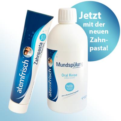 atemfrisch® System (Zahnpasta 100 ml und Mundspülung 500 ml)